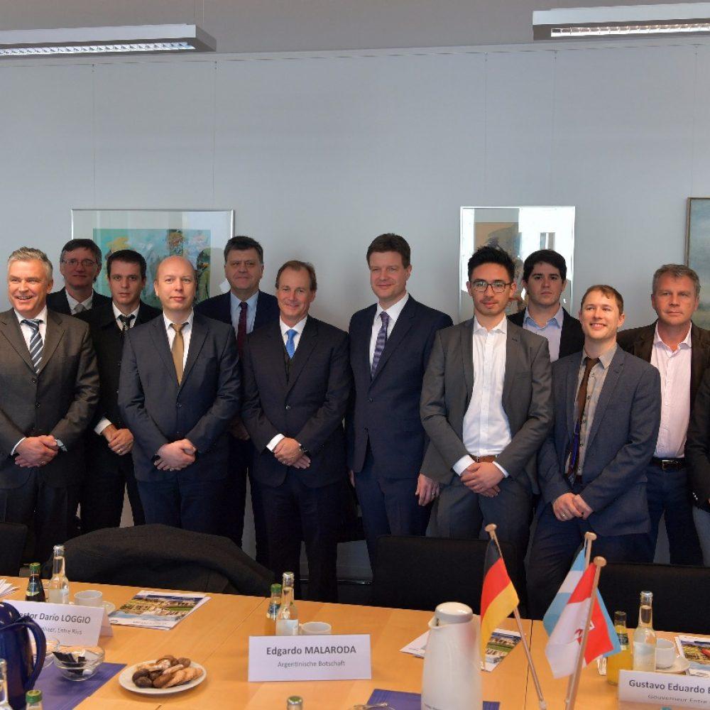 El Intendente Galimberti participó de una reunión con el Centro de Comercio e Industria de Potsdam